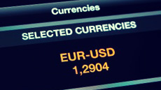 foreign exchange rates on screen