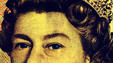 Pound note Queen Close up