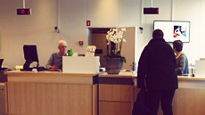Bank Branch Desk with Customer 2