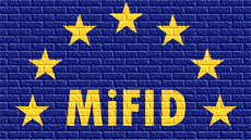 MiFID on brick wall background