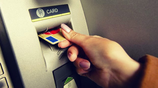 atm inserting card