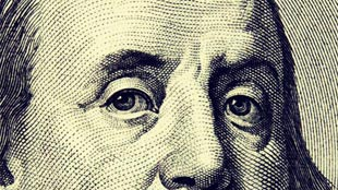 Benjamin franklink US Note