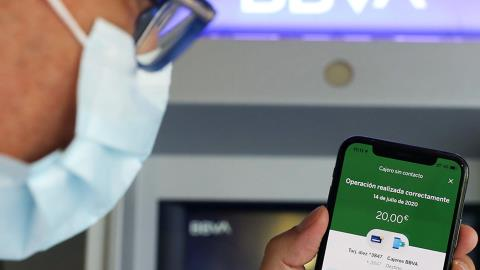 BBVA introduces contactless cash machines