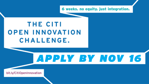 Citi dangles $50,000 carrot for innovation challenge