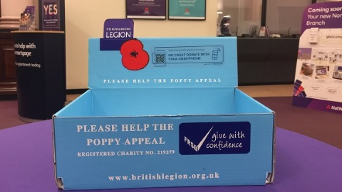 NatWest places contactless Poppy collection boxes in branches