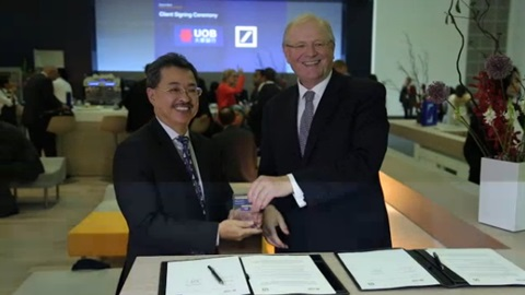 Deutsche Bank, UOB sign Eurex cash clearing MOU