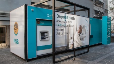 FNB opens branch inside a shipping container