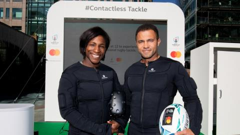 'Contactless tackle' lets fans feel the force of a real England rugby player