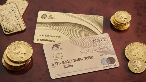 Royal Mint launches solid gold payments card