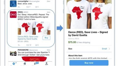Twitter starts testing 'buy' button