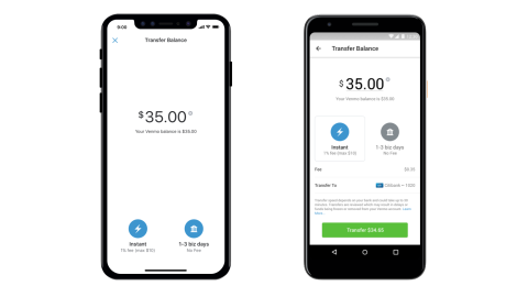Venmo rolls out instant transfers to bank accounts