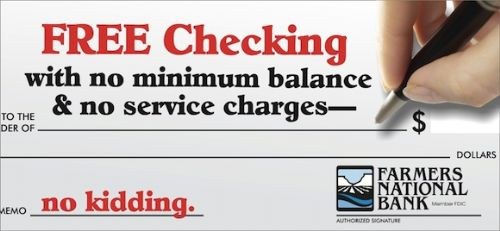 Free Checking means nought if I don't write checks