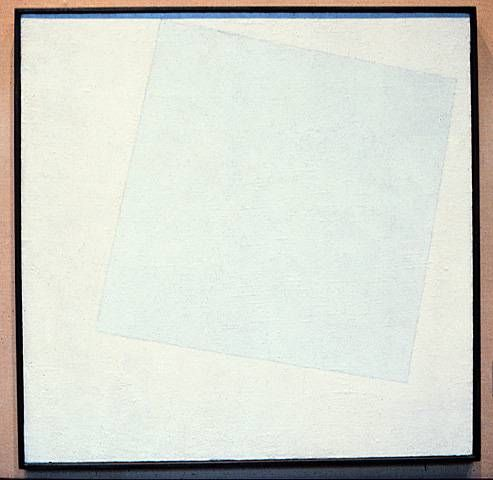 Malevich White on White 1918 Museum of Modern Art NY