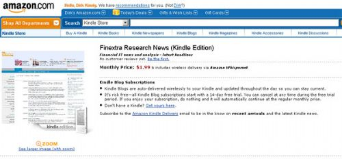 Finextra News Kindle Edition