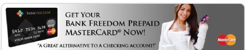 Bank Freedom a bank account alternative, although not a bank