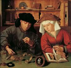 Money Lender and hid Wife , Quentin Massys, 1514